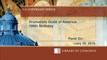 Dramatists Guild of America 100th Birthday