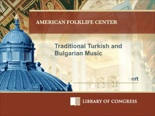 Traditional Turkish & Bulgarian Instrumental & Vocal Music
