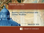 Reading & Conversation with Carmen Boullosa
