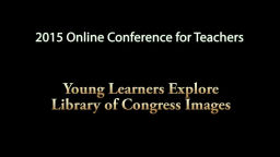 Young Learners Explore Library of Congress Images